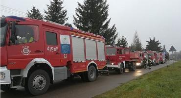 AKTUALIZACJA: Pożar domu w Glinojecku [zdjęcia]