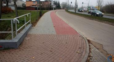 Na ul. Tatarskiej powstał kolejny fragment ciągu pieszo-rowerowego [zdjęcia]