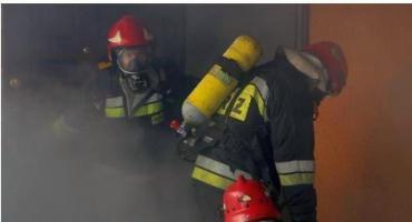 Pożary w domach i blokach, powalone drzewa - pracowite dni ciechanowskich strażaków