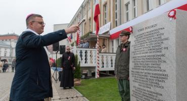 W Toruniu odsłonięto tablicę z okazji setnej rocznicy odzyskania niepodległości [FOTO]