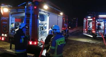 Nocny pożar pod Toruniem. Płonął budynek [FOTO]