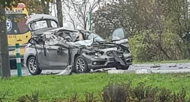 Poranny wypadek pod Toruniem. Droga całkowicie zablokowana! [PILNE]