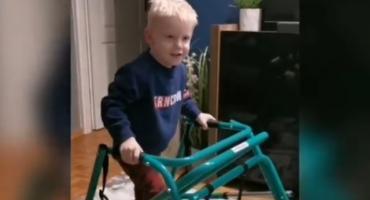 Mały wojownik! Nowe nagranie z 4-latkiem, który w Toruniu spadł z 11. piętra [WIDEO]