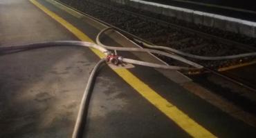Pożar na stacji kolejowej w Kowalewie Pomorskim