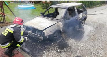 Pożar samochodu na Podzamku